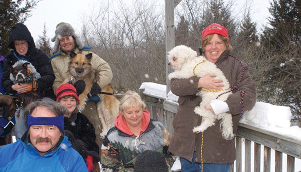 Bichon at Winter Dog Camp