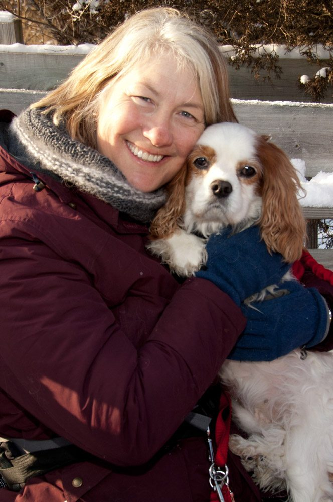 Margaret and a cute Cavalier