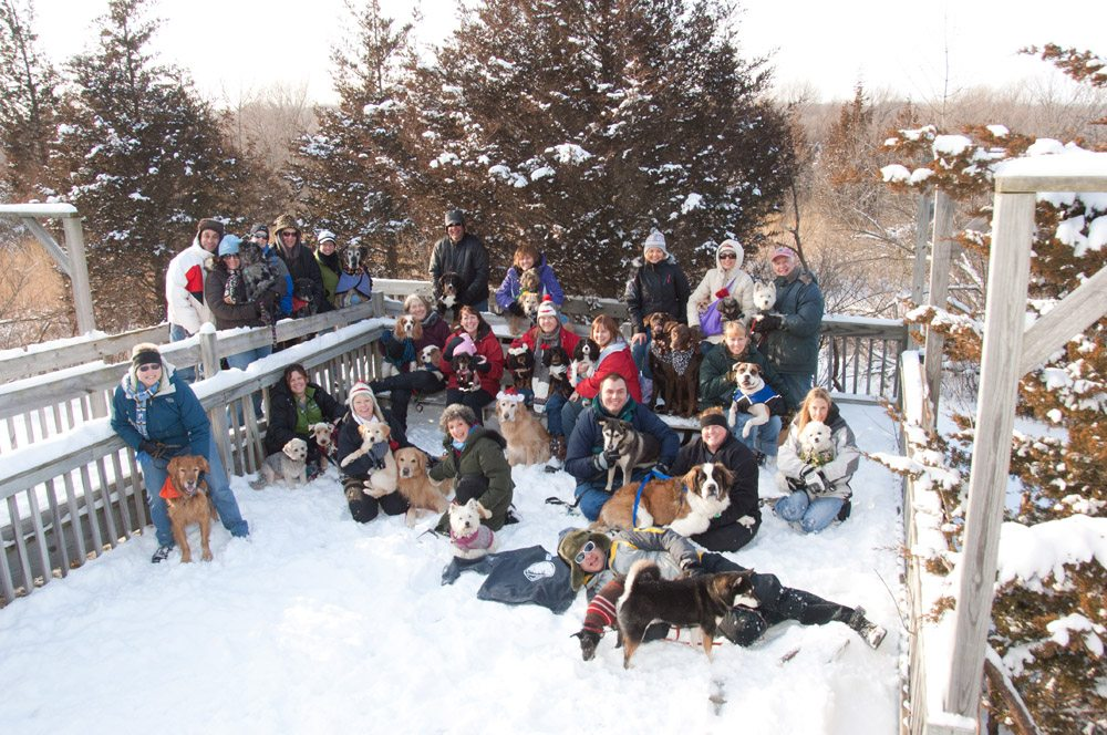 Winter Dog Camp Group Photo